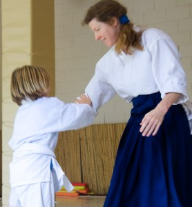 Asia Currie Training with a Youth Student of Aikido'Ka