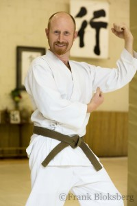 Ian will be demonstrating for his first kyu on May 16, 2015.