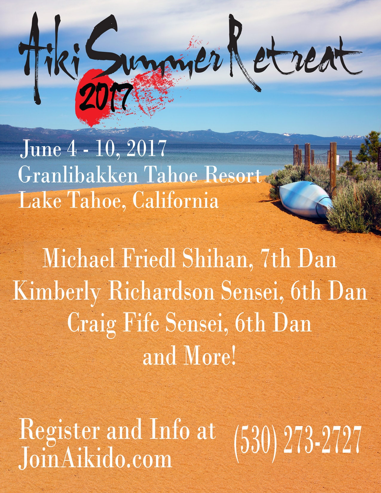 Aiki Summer Retreat 2017 flyer