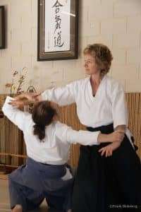Michele Simone Sensei and Frank Bloksberg Sensei training together.