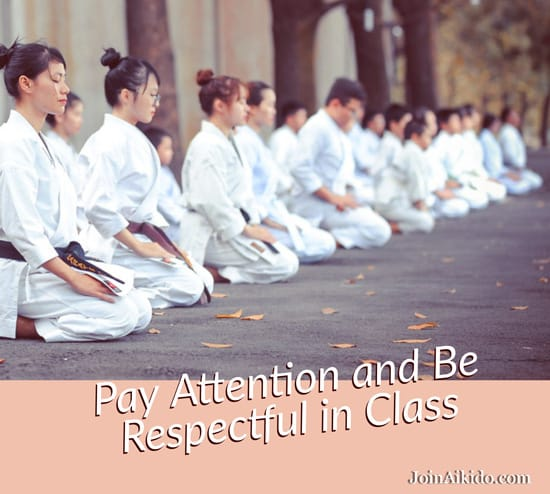 Pay Attention in Class and Be Respectful in Class