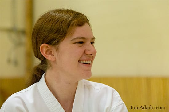 A Happy Student at Aikido'Ka